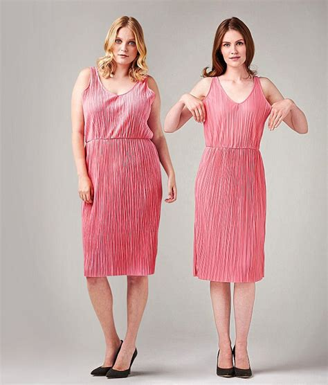 Pink Pleated Irreguler Dress Size Sml 1 how inaccurate clothes labels are daily mail