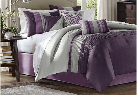 brenna purple 7 pc king comforter set king linens red