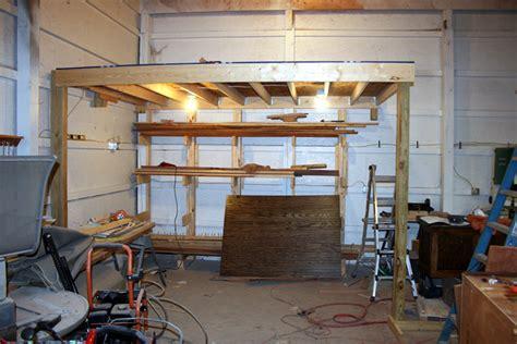How To Build A Loft In Garage by New Storage Loft By Grub32 Lumberjocks