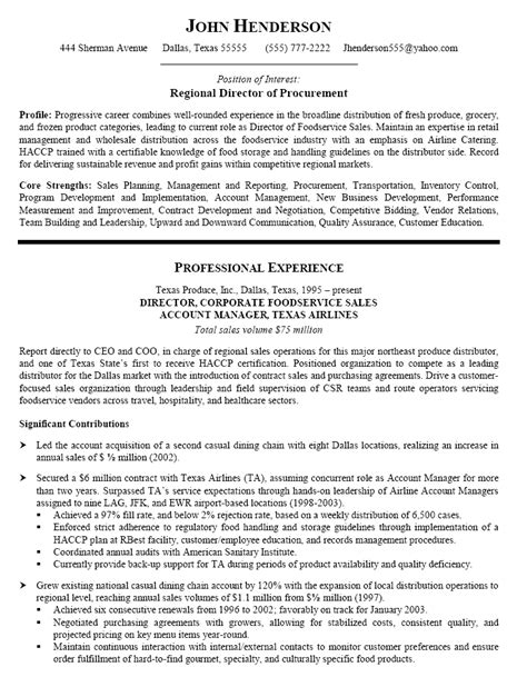 procurement manager resume procurement manager resume word