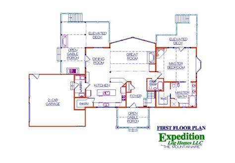 Mountainaire Log Floor Plan Log Cabin 2558 Sq Ft Log Cabin House Plans 2500 Square