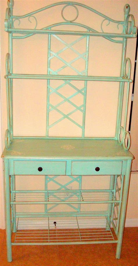 Painted Bakers Rack by Bakers Rack Painted Turquoise Style