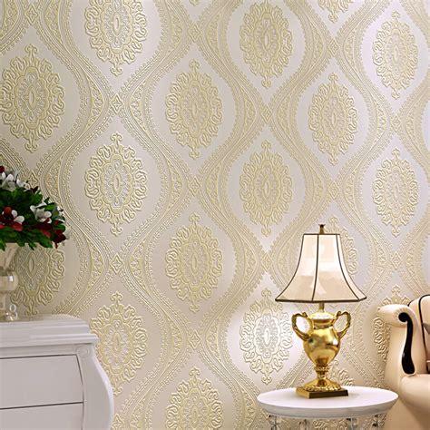 european damask diamond wallpaper 3d stereoscopic modern 3d luxury european wallpaper damask modern non woven