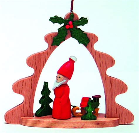 xwg18 19014 handcrafted santa and sled german wood