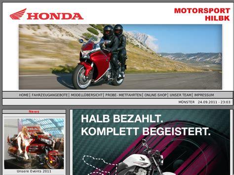 Honda Motorrad In M Nster by Motorsport Hilbk Ohg In M 252 Nster Motorradh 228 Ndler