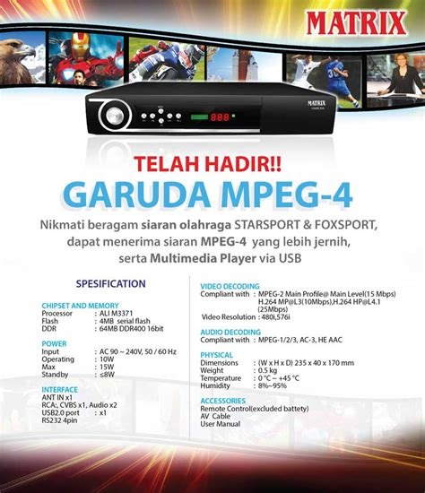 Harga Digital Matrix Garuda matrix mpeg4 big tv garuda mango burger
