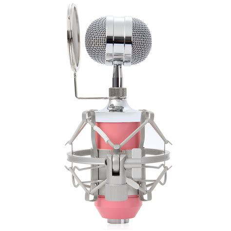 mikrofon kondenser dengan shock proof mount bm 8000