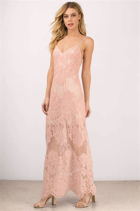 Maxy Is maxi dress scalloped dress pink dress