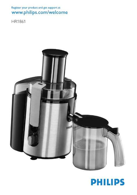 Power Juicer Philip notice philips hr1861 trouver une solution 224 un probl 232 me de philips hr1861 mode d emploi