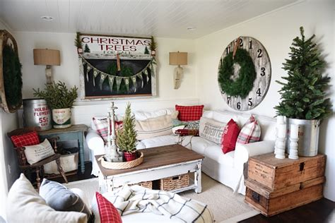 diy christmas decorations casual cottage cozy rustic christmas cottage living room liz marie blog