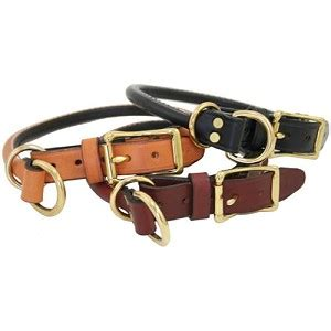 Handcrafted Collars - handcrafted rolled leather combo collars classic colors