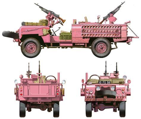 sas land rover land rover sas recon vehicle quot pink panther quot italeri 6501
