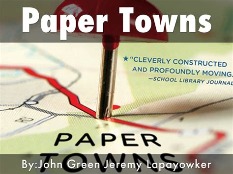 themes in the book paper towns paper towns by hockeyjer
