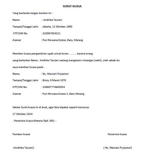 contoh surat kuasa berbagai keperluan yang baik dan benar mpssoft
