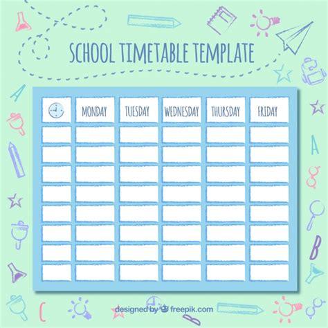 cute school schedule vector free download