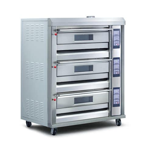 Gas Baking Oven Low Pressure 3 Deck 6 Loyang Rfl 36ss 3 decks 6 trays 600x400mm 350 176 c professional gas baking oven tt o38e