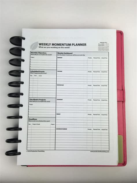 All Day Planner Post It planning using the daily and weekly momentum planner by productive flourishing week 36 of the