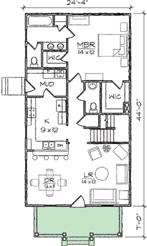 Plan 10032tt Arts Crafts Narrow Lot House Plan Narrow Country House Plans Narrow Lot