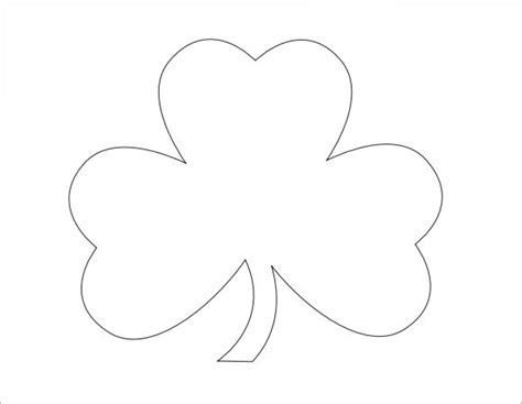 printable shamrock template sle shamrock 8 documents in pdf word