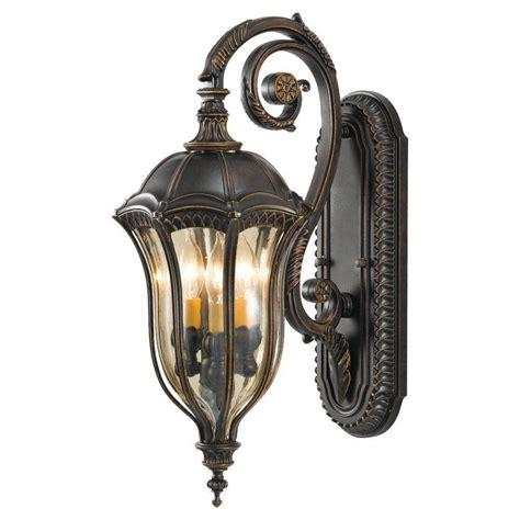 feiss woodside 3 light black outdoor wall lantern
