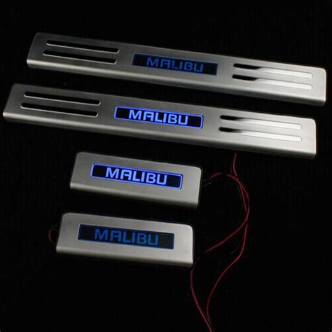 Door Sill Platr With Led for 2014 chevrolet malibu stainless steel illuminated door sill scuff plate led threshold