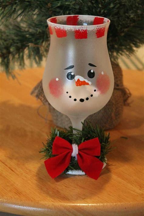 christmas wine glass crafts art ideas crafts
