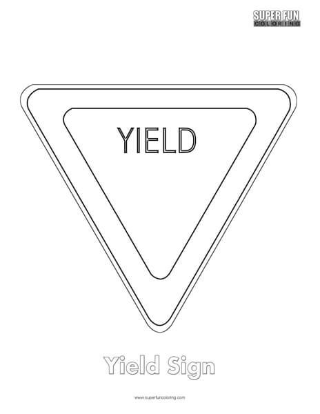 yield sign color yield sign coloring page coloring