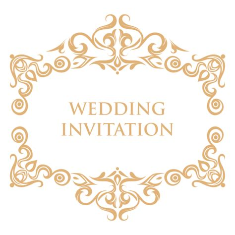 Wedding Logo Png by Wedding Invitation Label 2 Transparent Png Svg Vector