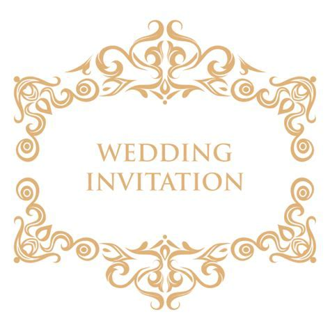 Wedding invitation label 2   Transparent PNG & SVG vector