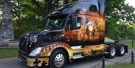 volvo trucks north america inc volvo trucks ride for freedom truck honors military heroes