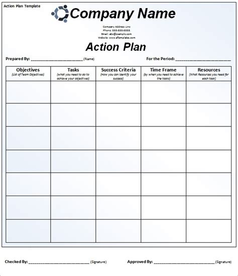 action plan template beepmunk
