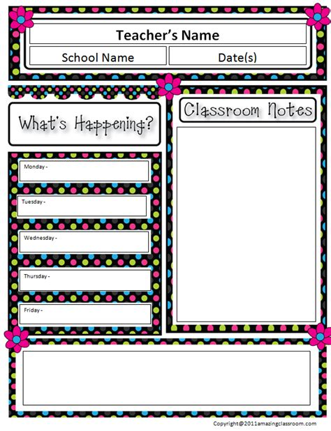 free templates for teachers 5 best images of printable newsletter templates for