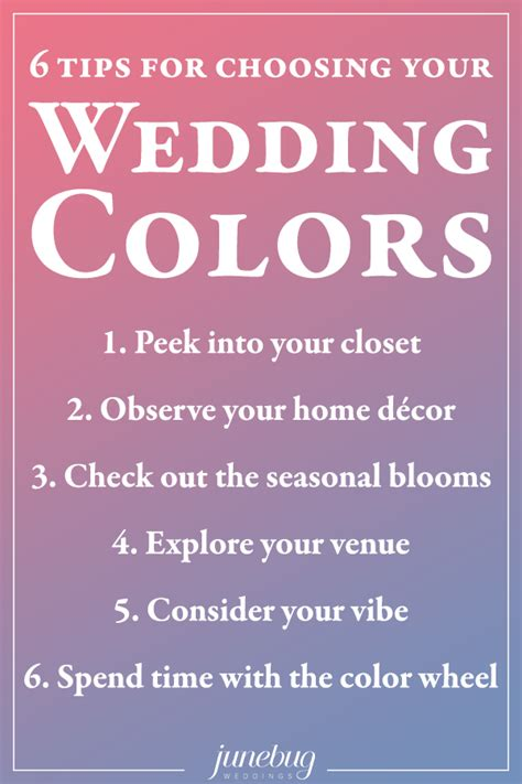 6 tips for choosing your wedding colors junebug weddings
