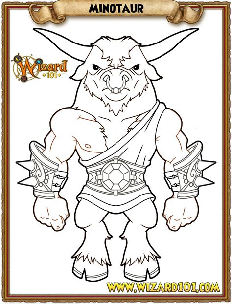 wizard101 coloring pages free coloring pages of theseus and the minotaur
