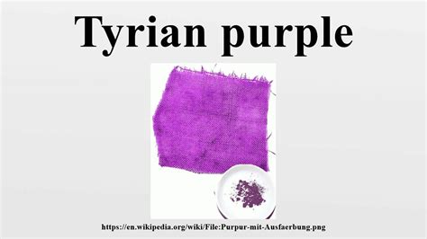 tyrian purple tyrian purple youtube