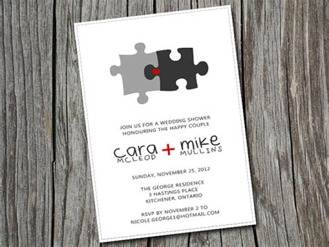Wedding Invitation Jigsaw Puzzle by You Complete Me Jigsaw Wedding Inspiration Mrs2be