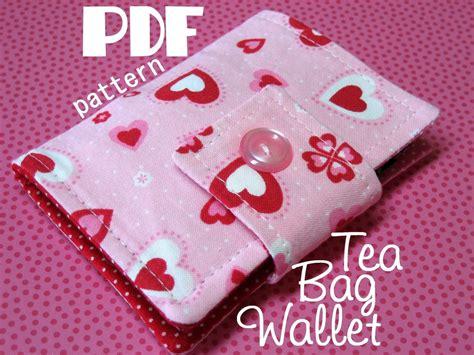 sewing pattern etsy tea bag wallet pdf sewing pattern by breeleed on etsy