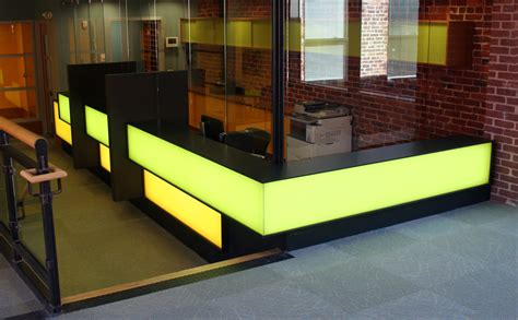 Illuminated Reception Desk with Illuminated Reception Desk Custom Effects Led Solutions Surrey Bc Canada Glacier Corian 174