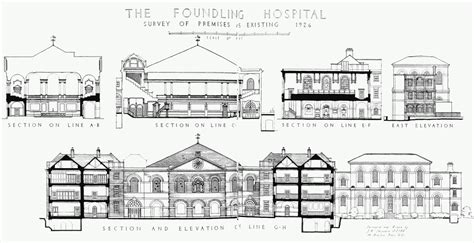 hospital sections plate 18 foundling hospital sections etc british