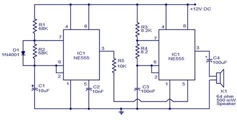 555 chip diagram voltage doubler with ne555 timer chip circuit schematic