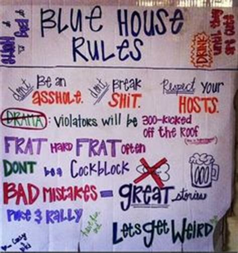 frat house tumblr house rules on pinterest party rules college parties and blue houses