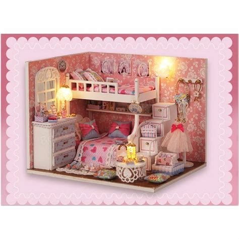 dollhouse room cuteroom diy wood dollhouse kit miniature with furniture