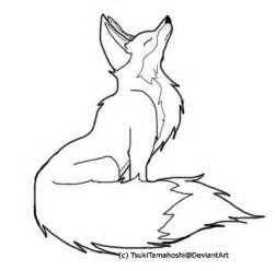 Fox Drawing Outline by Color Me Fox Outline By Tsuki No Rakuen On Deviantart
