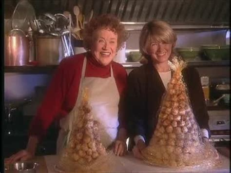video julia child  martha  croquembouche martha