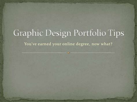 design tips graphic design portfolio tips