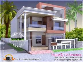 Two Bedroom Floor Plans House flat roof indian house exterior pinterest indian