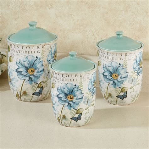 canisters amusing floral kitchen canisters vintage