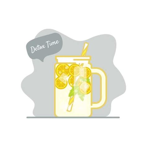 License For Detox by Detox Time Illustration Free Vector Stock