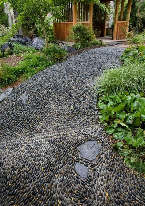 paths design 32 amazing pebble garden paths digsdigs