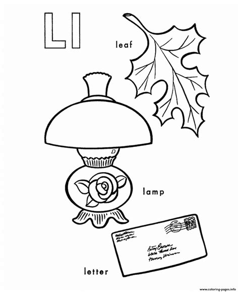l words coloring page different words of l alphabet s freecc15 coloring pages